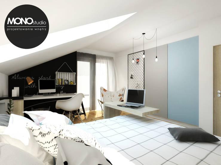 Pokój nastolatki: styl , w kategorii Pokój dziecięcy zaprojektowany przez MONOstudio,Industrialny
