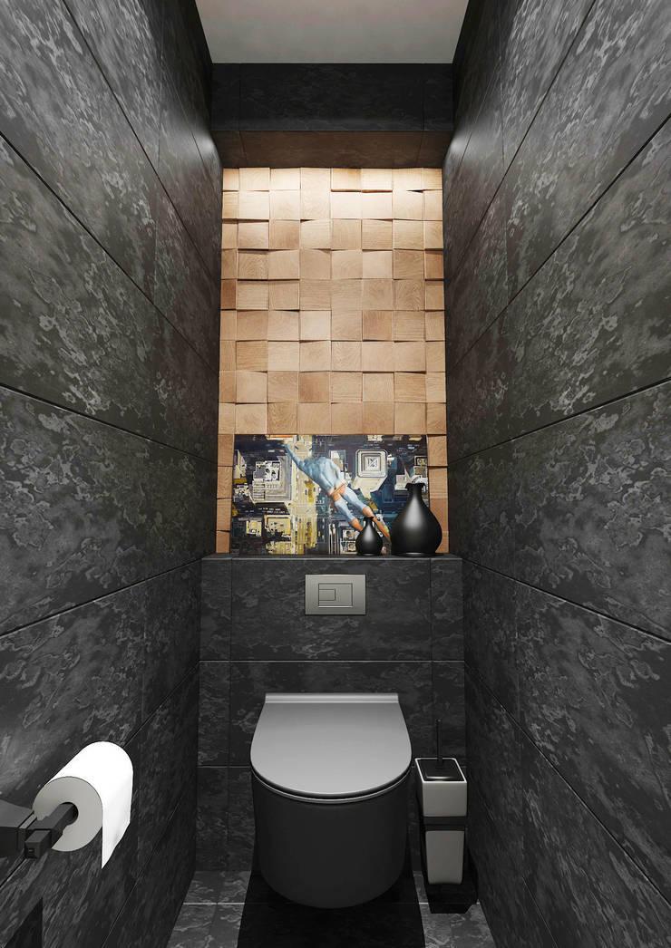 Квартира 60м2. Москва 2014г.: Ванные комнаты в . Автор – tim-gabriel