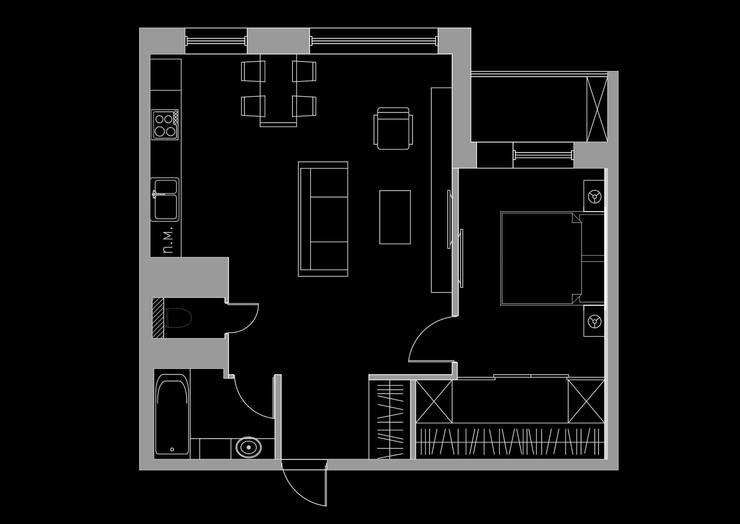 Квартира 60м2. Москва 2014г.:  в . Автор – tim-gabriel