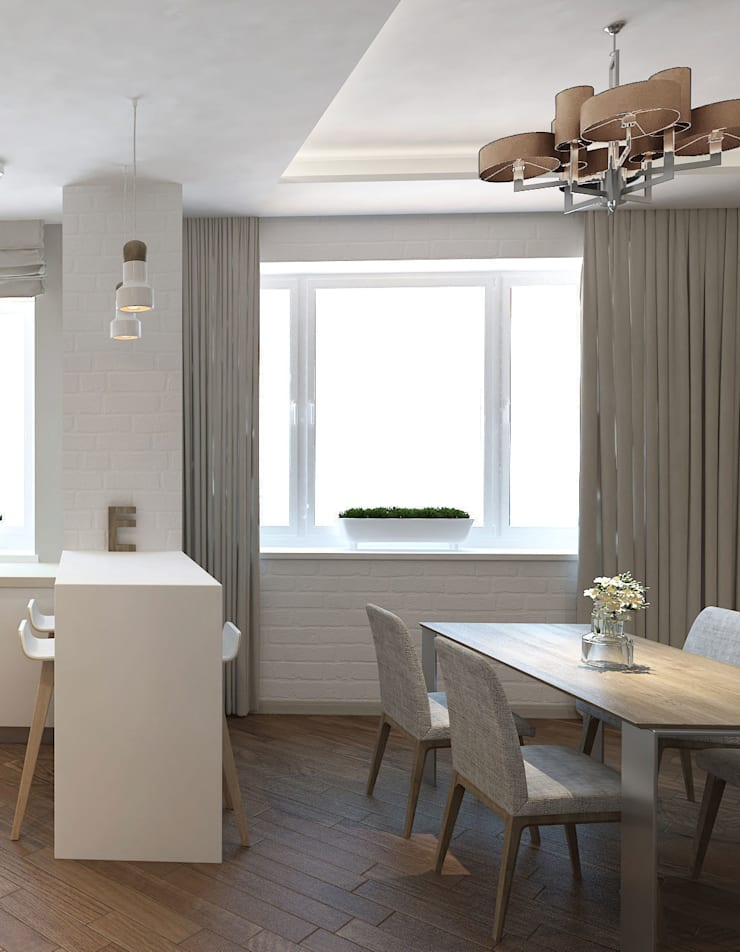 Eclectic style dining room by tim-gabriel Eclectic