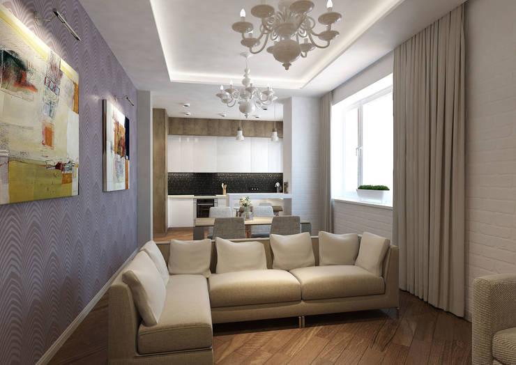 Salas de estar ecléticas por tim-gabriel Eclético