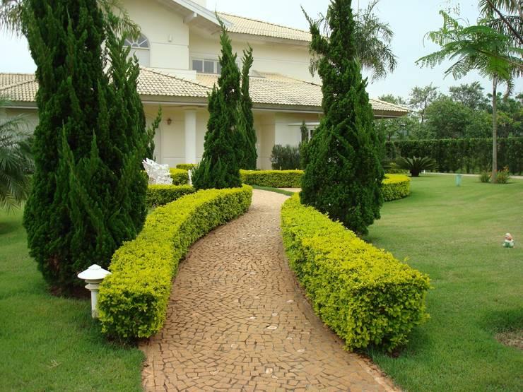 Residenciais: Casas clássicas por Roncato Paisagismo e Comércio de Plantas Ltda