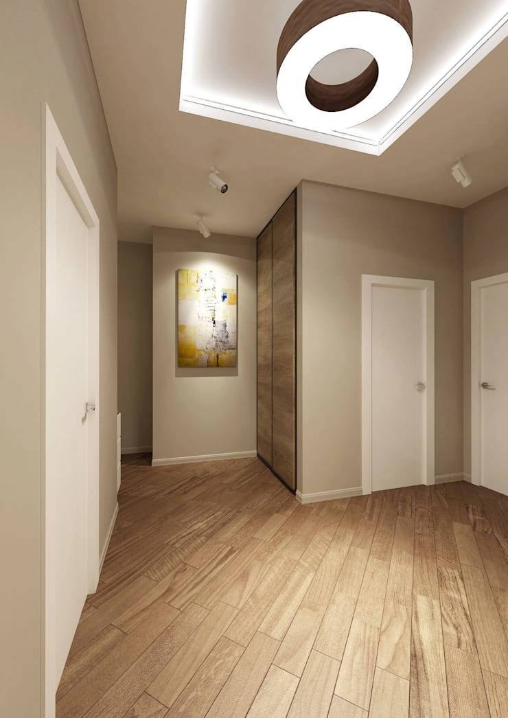 Eclectic style corridor, hallway & stairs by tim-gabriel Eclectic