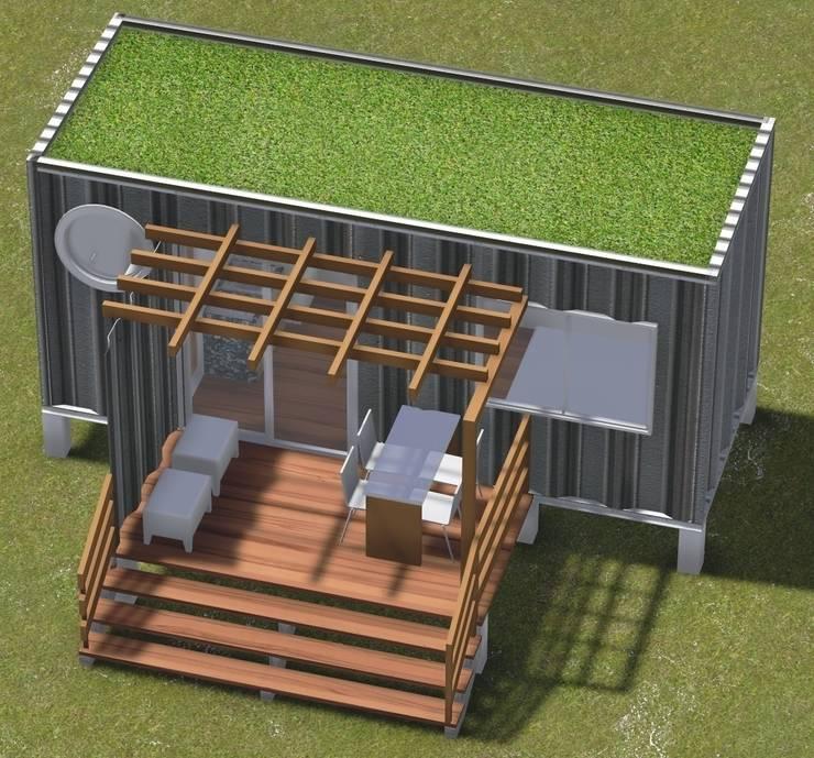 BOX COMPACTO – módulo1 : Casas  por SustentARQ Studio,Industrial