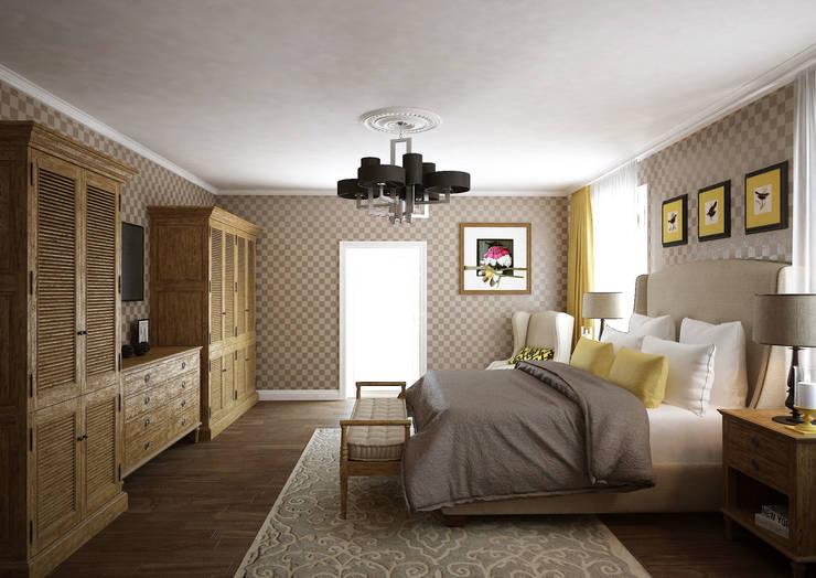 Загородный дом 320м2 в Подмосковье 2013г.: Спальни в . Автор – tim-gabriel