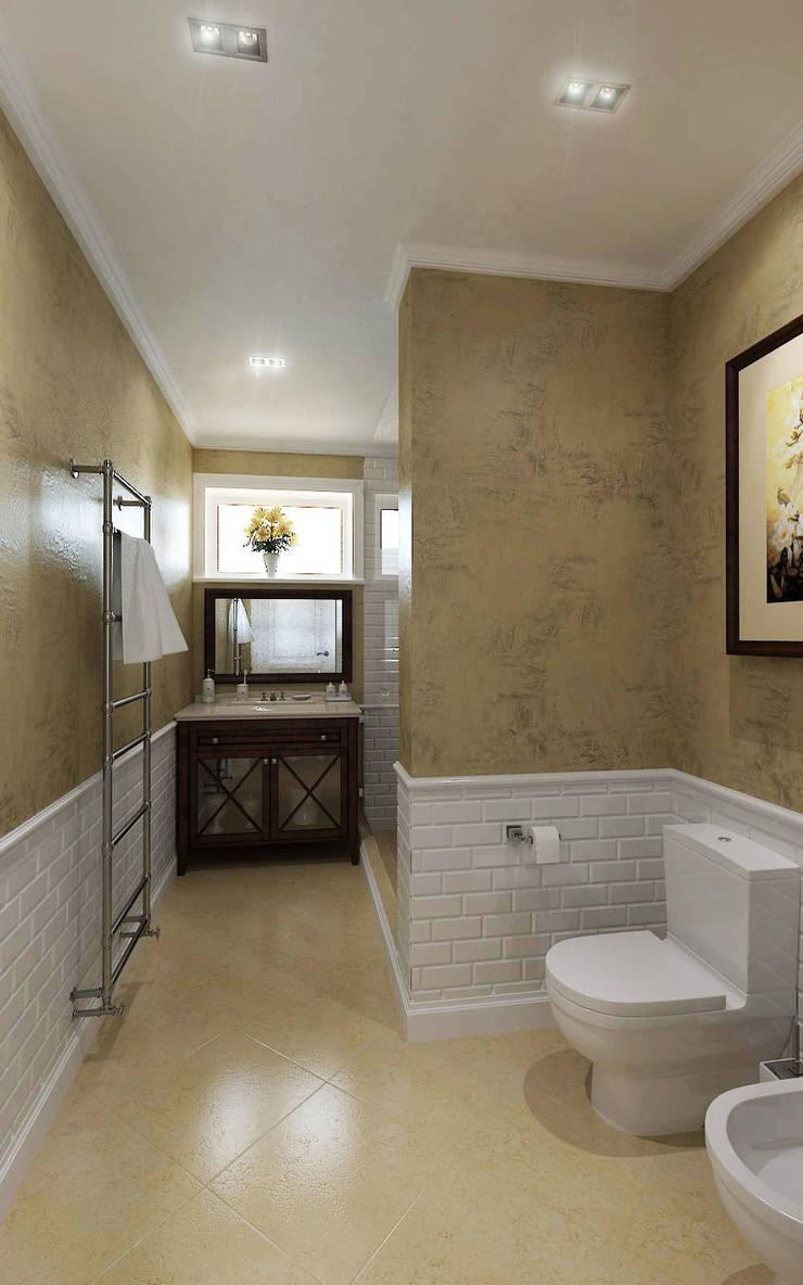 Загородный дом 320м2 в Подмосковье 2013г.: Ванные комнаты в . Автор – tim-gabriel