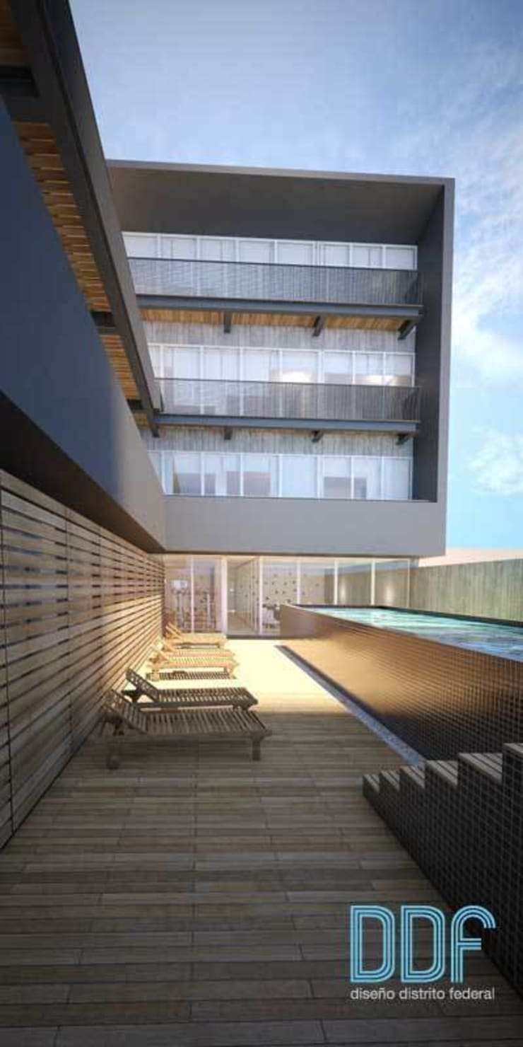 Querétaro Q3: Albercas de estilo  por Diseño Distrito Federal