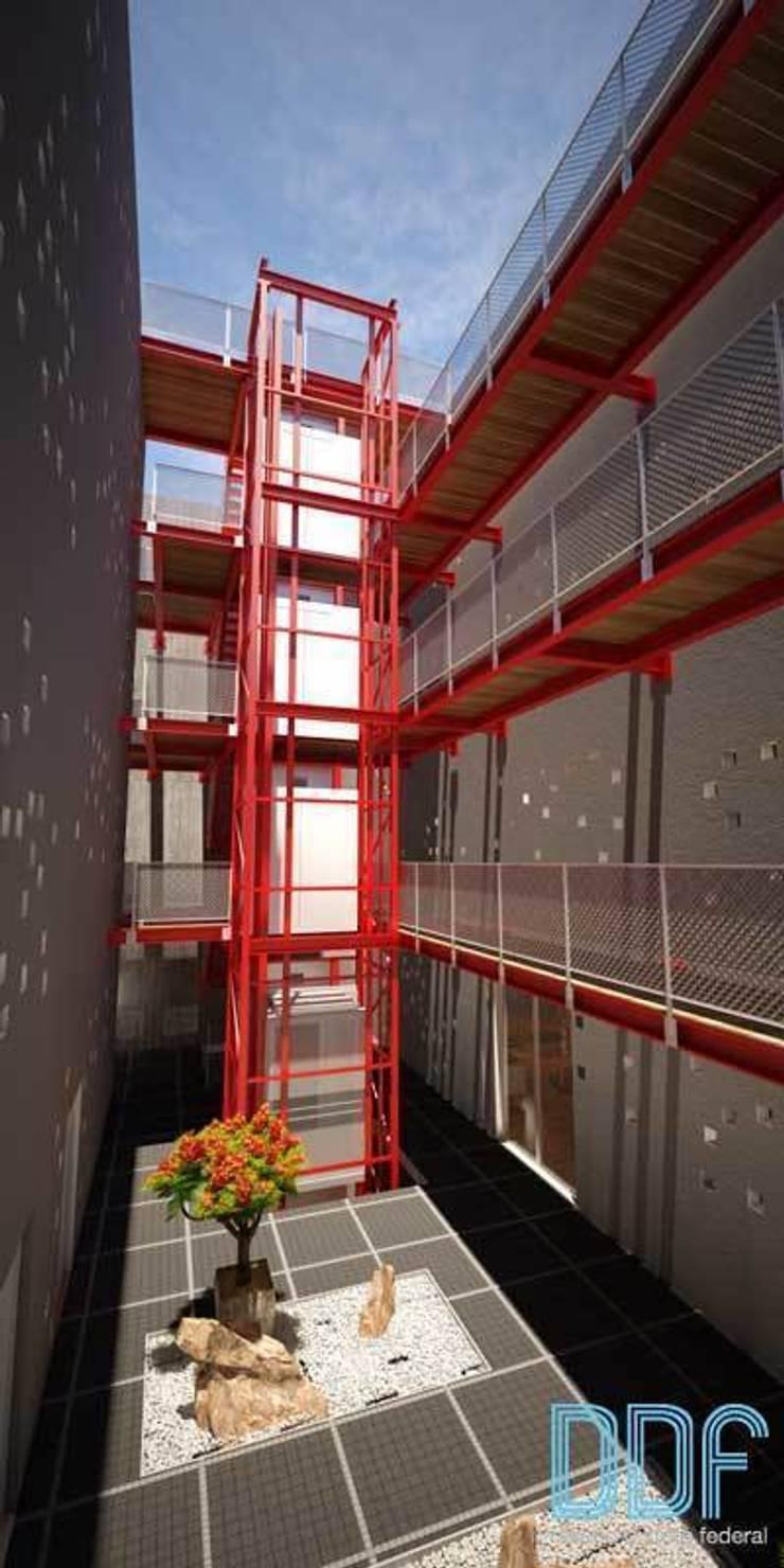 Querétaro Q3: Pasillos y recibidores de estilo  por Diseño Distrito Federal
