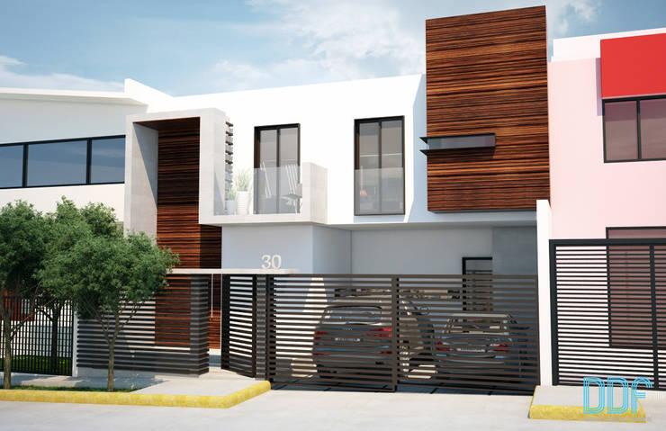 Casa Satélite 1: Casas de estilo  por Diseño Distrito Federal