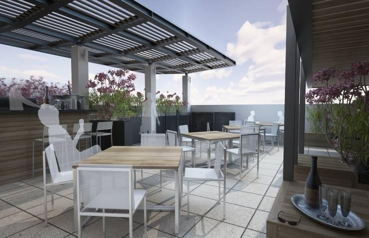 Presidente Intercontinental Santa Fé: Hoteles de estilo  por Diseño Distrito Federal