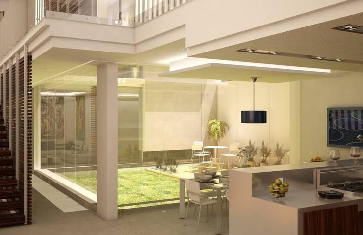 Casa Satélite 1: Cocinas de estilo  por Diseño Distrito Federal