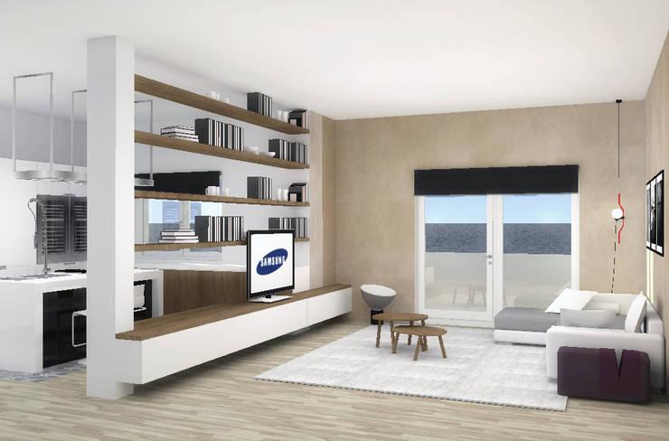 Appartamento privato_Genova_2014: Soggiorno in stile in stile Moderno di Valentina Cassader