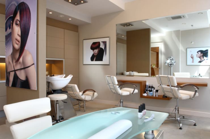 fryzjer: styl , w kategorii Spa zaprojektowany przez JOL-wnętrza,Nowoczesny