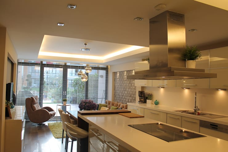 modern Kitchen by HEBART MİMARLIK DEKORASYON HZMT.LTD.ŞTİ.