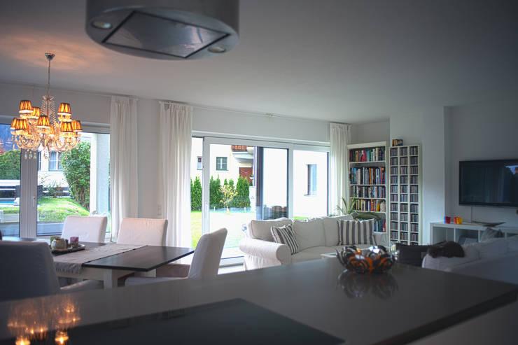 Projekty,  Salon zaprojektowane przez room architecture