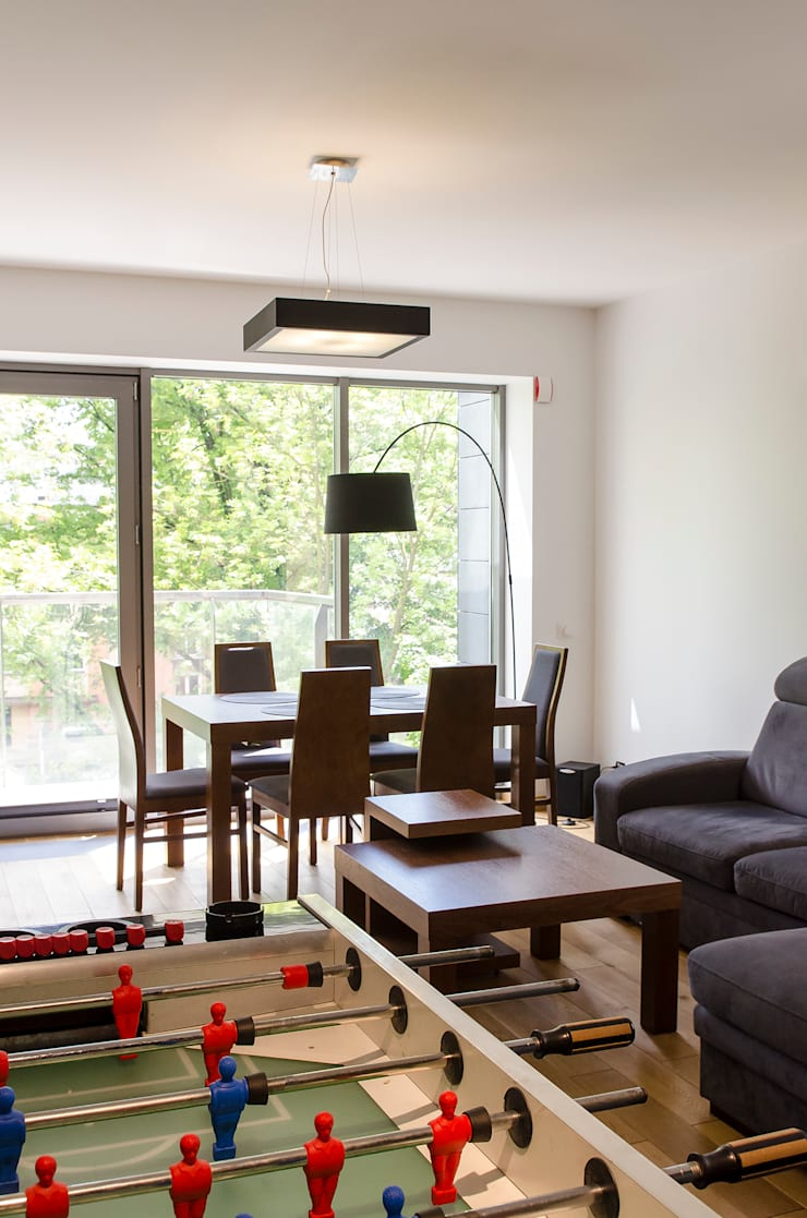 Salon_Mieszkanie_Promenada Solna_Kielce_Salon_Pracownia A: styl , w kategorii Salon zaprojektowany przez Pracownia A,Nowoczesny
