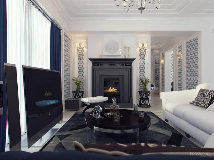 غرفة المعيشة تنفيذ Prosvirin Ruslan
