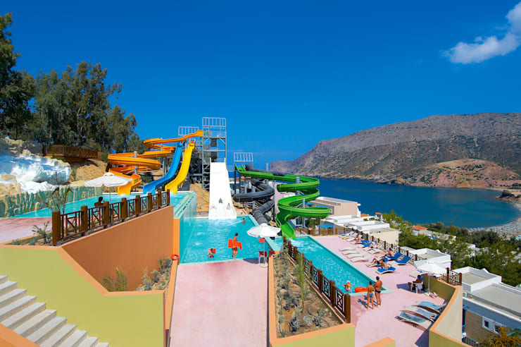 Palmiye Peyzaj Mimarlık – FODELE BEACH & WATERPARK HOLIDAY RESORT, HERAKLION /GREECE <q>design by Tulay TOSUN</q>:  tarz Oteller
