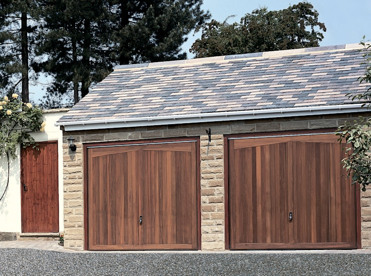 Garage Doors in Timber:  Garages & sheds by The Garage Door Centre Limited