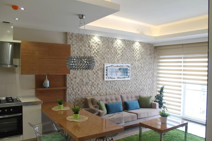 Salas / recibidores de estilo  por HEBART MİMARLIK DEKORASYON HZMT.LTD.ŞTİ.