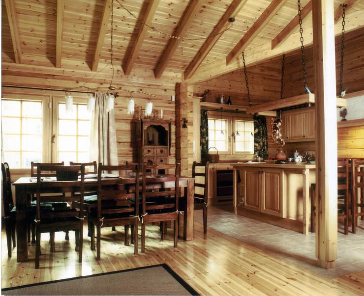 dom letni: styl , w kategorii Jadalnia zaprojektowany przez JOL-wnętrza,