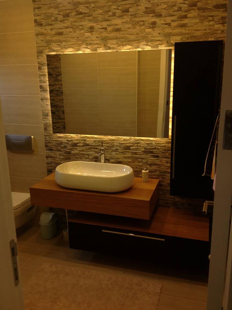 HEBART MİMARLIK DEKORASYON HZMT.LTD.ŞTİ. – Serkan Gürbüz Evi-İdealistkent: modern tarz Banyo