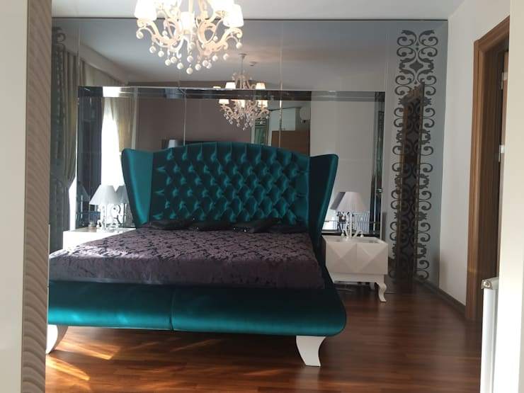 غرفة نوم تنفيذ HEBART MİMARLIK DEKORASYON HZMT.LTD.ŞTİ.