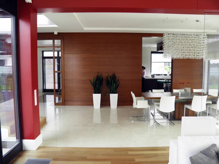 przestrzeń otwarta: styl , w kategorii Jadalnia zaprojektowany przez JOL-wnętrza