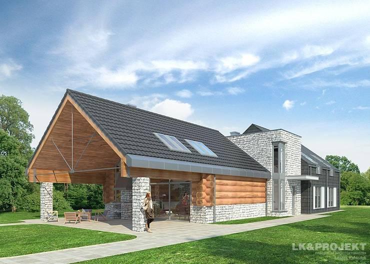 LK&684: styl , w kategorii Domy zaprojektowany przez LK & Projekt Sp. z o.o.,Nowoczesny