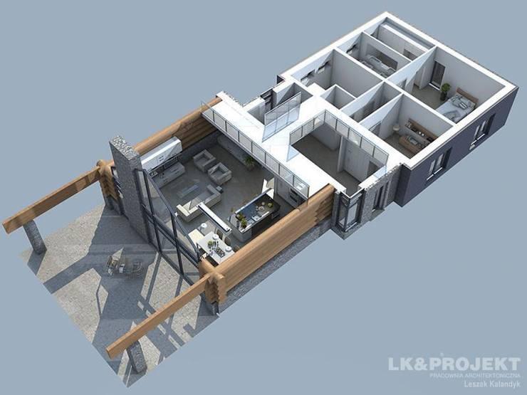 LK&684: styl , w kategorii Domy zaprojektowany przez LK & Projekt Sp. z o.o.