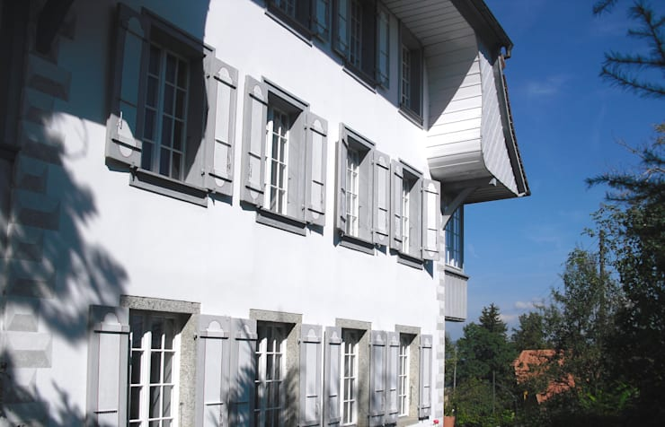 Südansicht: landhausstil Häuser von Dr. Schmitz-Riol Planungsgesellschaft mbH