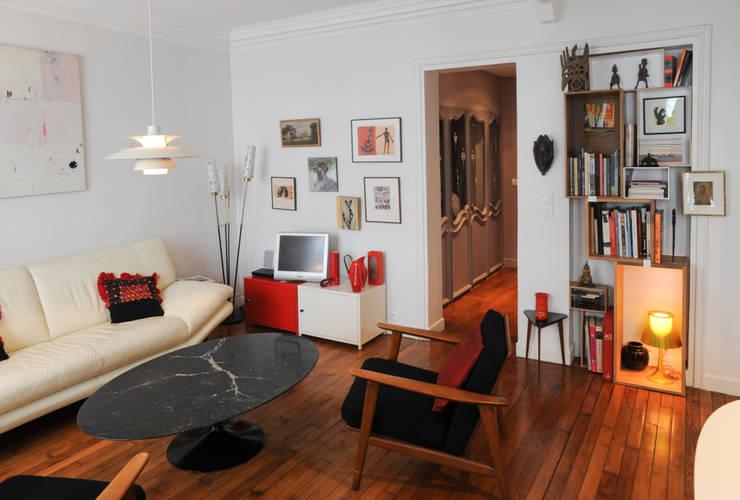 Гостиная в . Автор – Sara Camus Bouanha Architecture Interieure