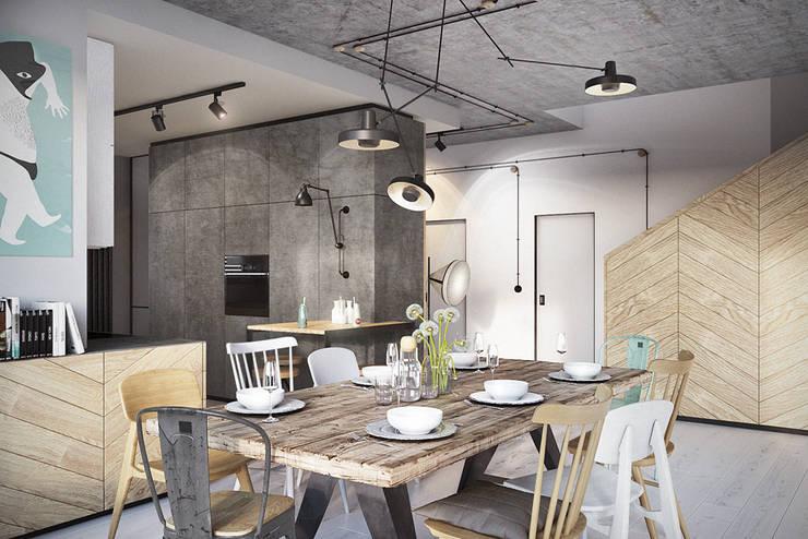 Warszawa / Wilanów – dom 180m2: styl , w kategorii Jadalnia zaprojektowany przez razoo-architekci
