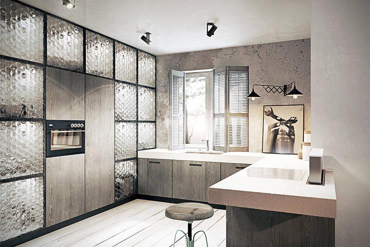 Wrocław / Grabiszynek, apartament 92m2: styl , w kategorii Kuchnia zaprojektowany przez razoo-architekci