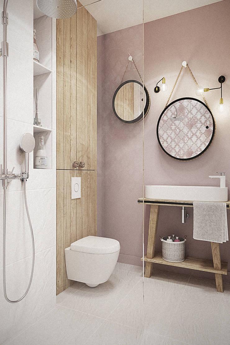 Wrocław / Grabiszynek, apartament 92m2: styl , w kategorii Łazienka zaprojektowany przez razoo-architekci