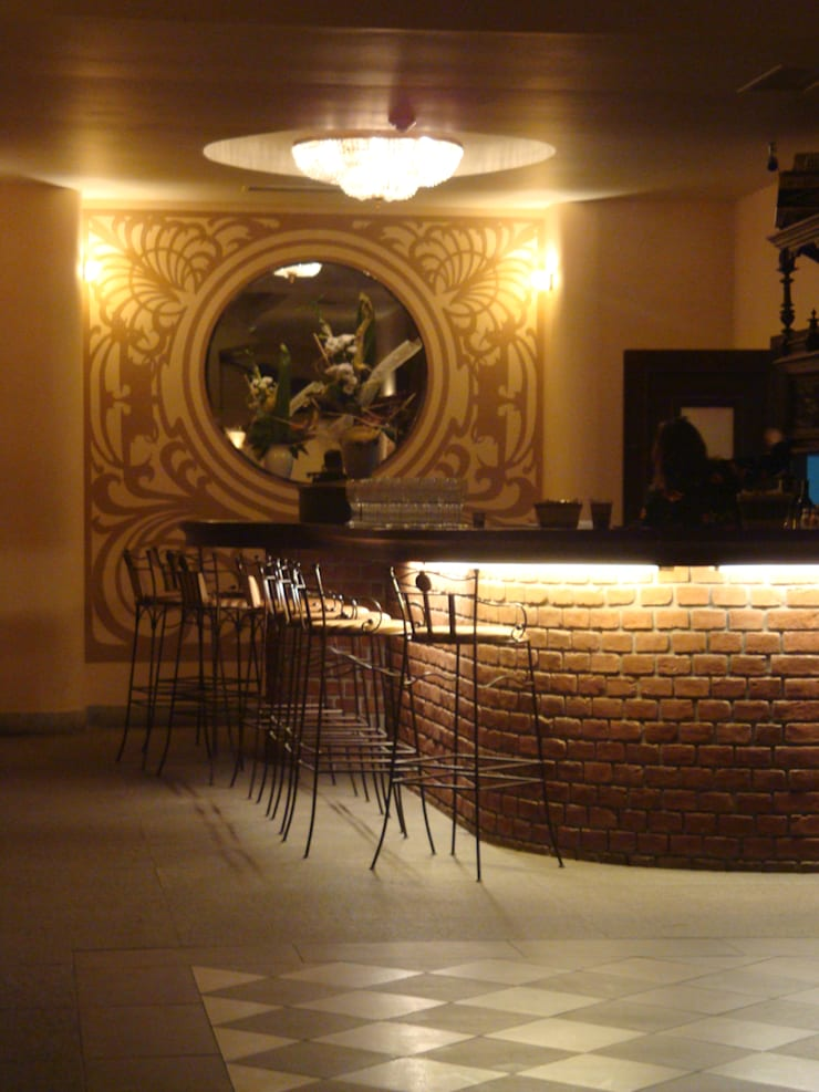 bar w foyer: styl , w kategorii Korytarz, przedpokój zaprojektowany przez JOL-wnętrza