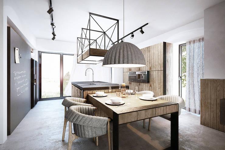 Mokronos k. Wrocławia, dom-163m2: styl , w kategorii Kuchnia zaprojektowany przez razoo-architekci,