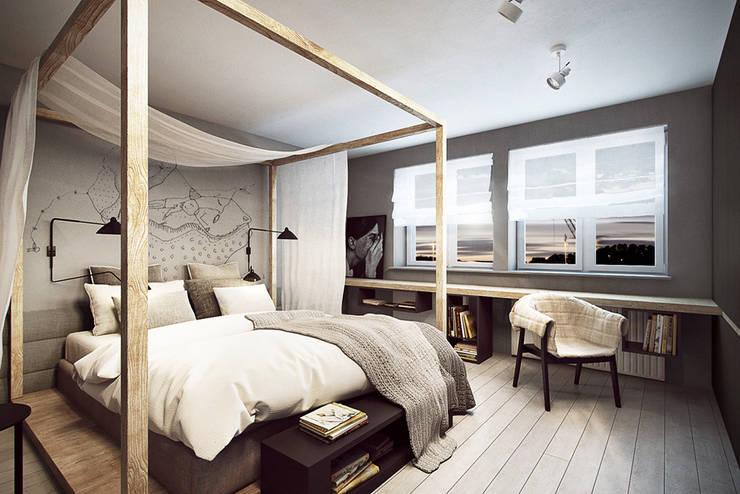Wrocław / Maślice, mieszkanie – 43m2: styl , w kategorii Sypialnia zaprojektowany przez razoo-architekci