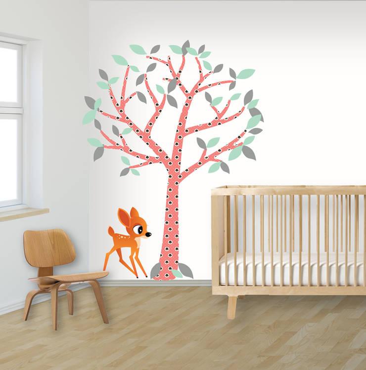 Muurstickers babykamer en kinderkamer:   door decodeco.nl, Minimalistisch