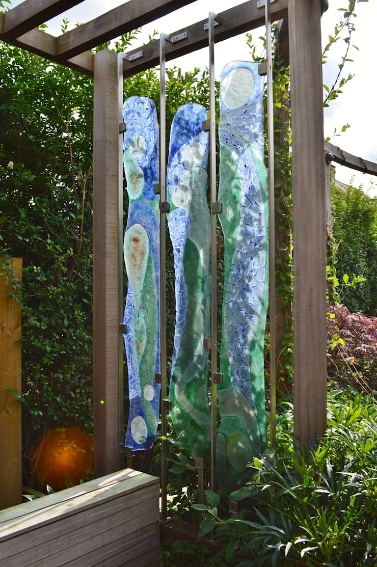 Suspended Glass Artwork:  Garden by Unique Landscapes, Classic