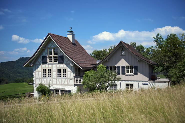Ansicht der beiden Häuser:  Häuser von Dr. Schmitz-Riol Planungsgesellschaft mbH