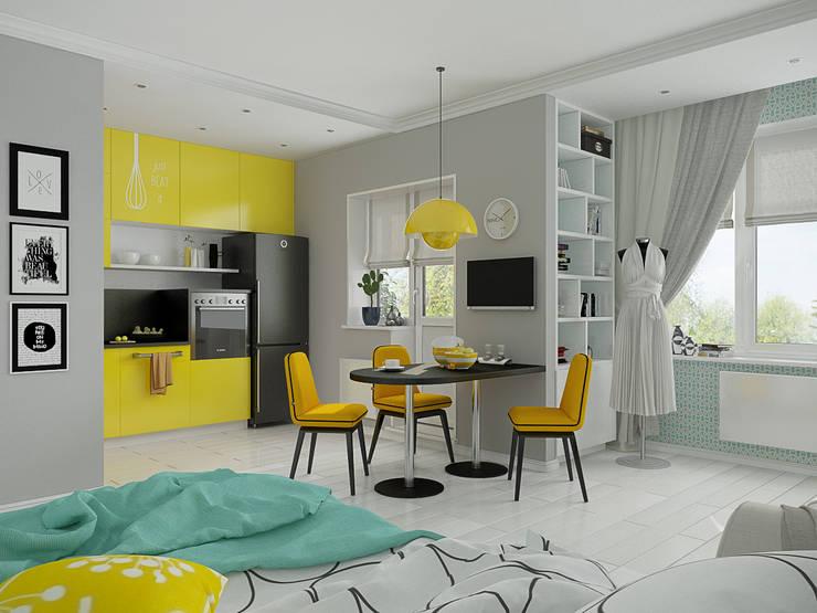 Мятный Glam: Гостиная в . Автор – EEDS дизайн студия Евгении Ермолаевой,