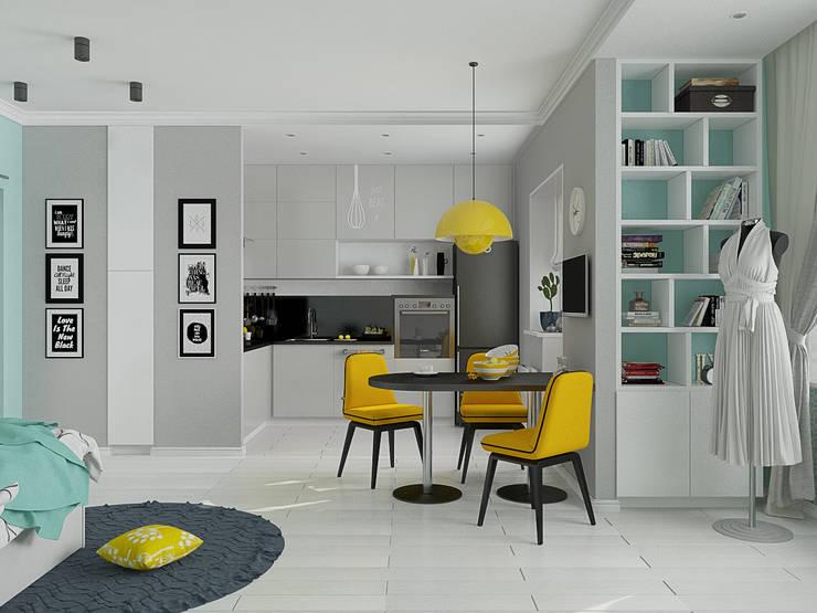 Мятный Glam: Кухни в . Автор – EEDS дизайн студия Евгении Ермолаевой,