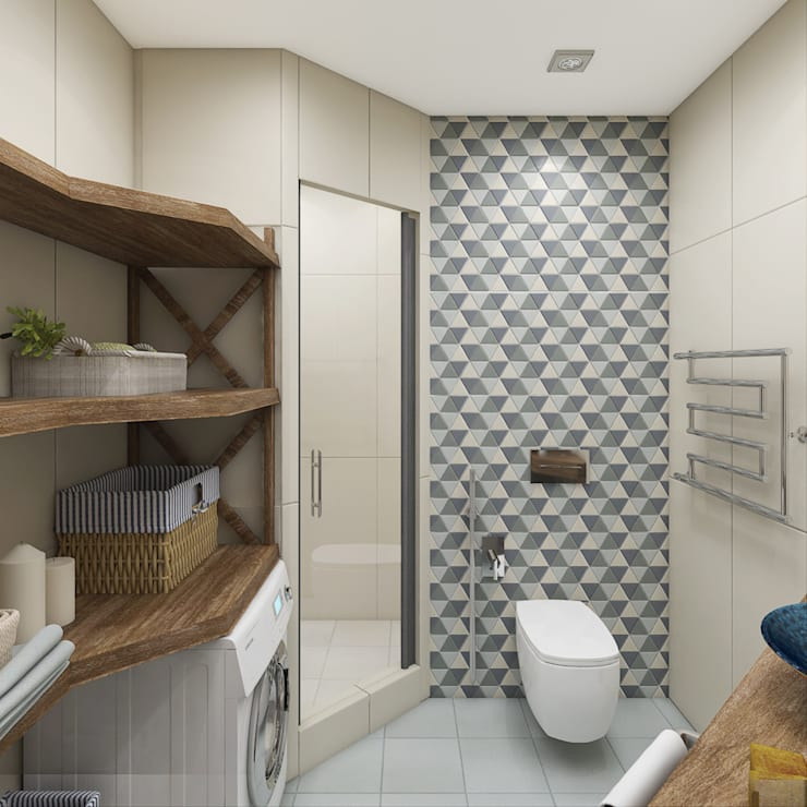 Скандинавский лес: Ванные комнаты в . Автор – EEDS design