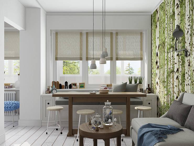 Скандинавский лес: Гостиная в . Автор – EEDS design