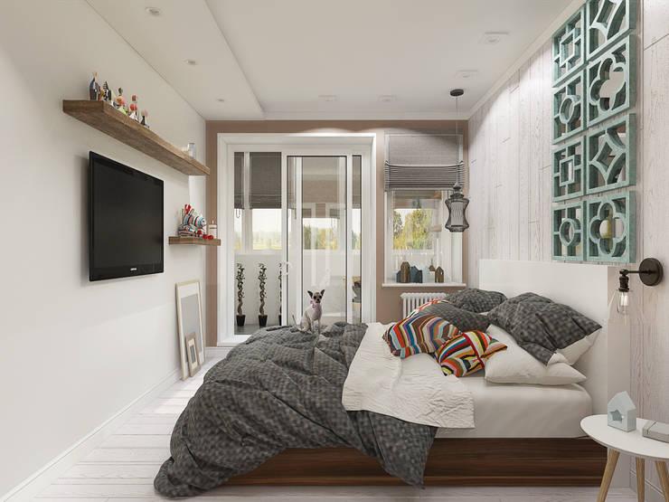 Скандинавский лес: Спальни в . Автор – EEDS design