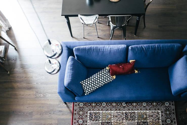 Podgórze, Kraków: styl , w kategorii Salon zaprojektowany przez Odwzorowanie
