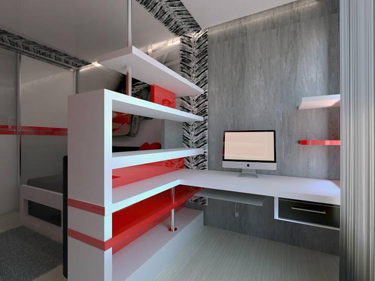 3-х комнатная квартира г.Краснодар: Рабочие кабинеты в . Автор – K&D