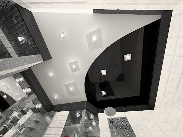 3-х комнатная квартира г.Краснодар: Ванные комнаты в . Автор – K&D