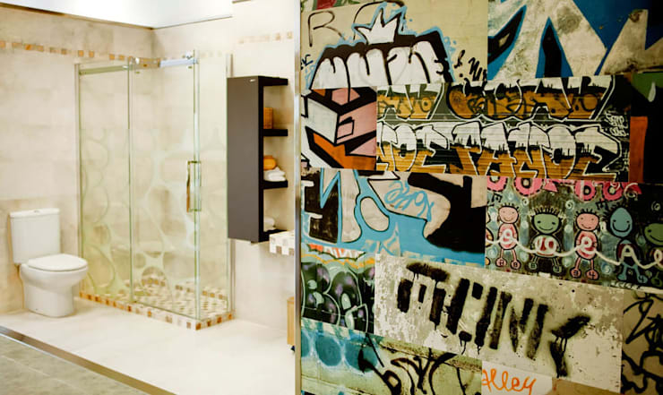 Azulejos Baño: Baños de estilo moderno de AZULEJOS HG SL